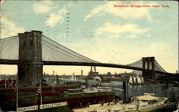 Brooklyn Bridge From New York New York City