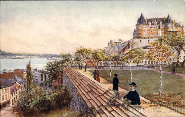 Chateau Frontenac And Citadel Quebec