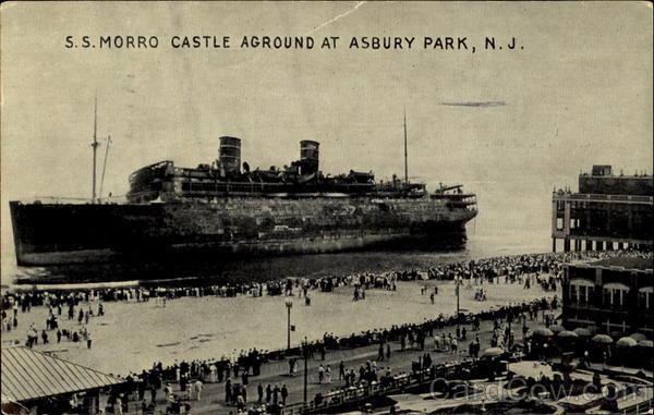 S. S. Morro Castle Aground Asbury Park New Jersey