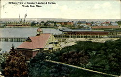 Birdseye View Of Steamer Landing & Harbor
