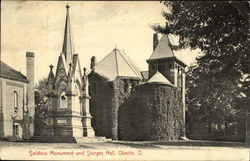 Soldiers Monument And Sturges Hall Postcard
