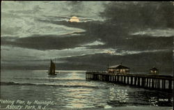 Fishing Pier Ny Moonlight