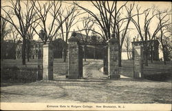 Entrance Gate To Rutgers College