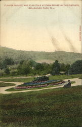 Flower Mound And Flag Pole Postcard