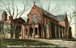 Chapel And Library, Rutgers College
