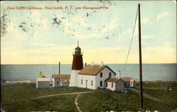 Point Judith Lighthouse, Narragansett Pier Postcard