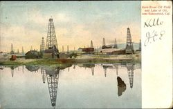 Kern River Oil Field And Lake Of Oil