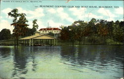 Beaumont Country Club And Boat House Postcard