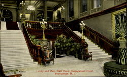 Lobby And Main Stair Case, Narragansett Hotel