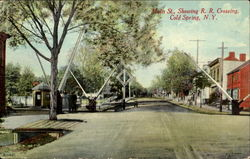 Main St., Showing R. R. Crossing