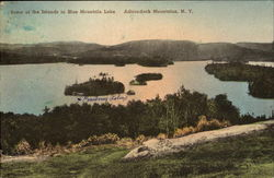 Some Of The Islands In Blue Mountain Lake, Adirondack Mountains