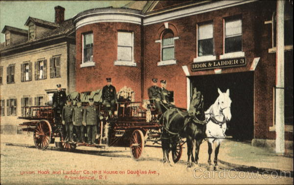 Union Hook And Ladder Co.,, No. 3 House On Douglas Ave Providence Rhode Island
