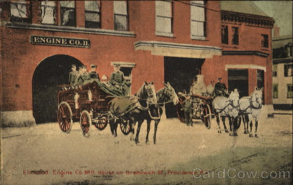 Elmwood Engine Co.,, No. 11 House On Greenwich St Providence Rhode Island