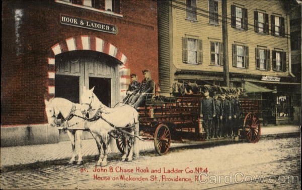 John B. Chase Hook And Ladder Co, No. 4 House On Wickenden St Providence Rhode Island