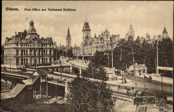 Post Office And Parliament Buildings Ottawa Ontario Canada