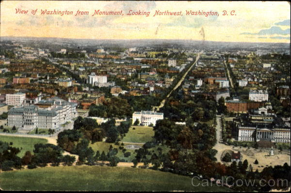 View Of Washington From Monument District of Columbia