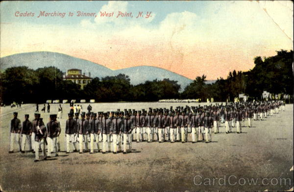 Cadets Marching To Dinner West Point New York