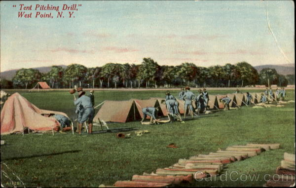 Tent Pitching Drill West Point New York