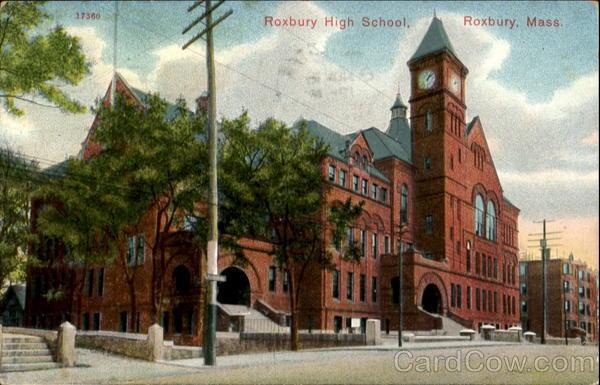 Roxbury High School Vintage Post Card