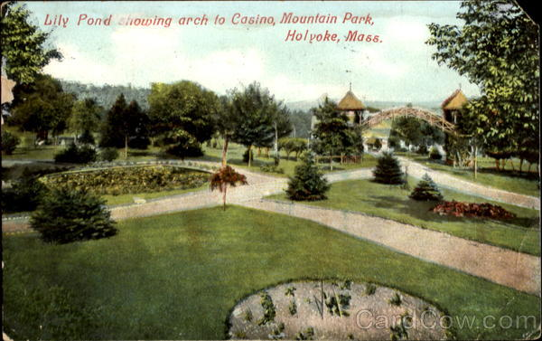 Lily Pond Showing Arch To Casino, Mountain Park Holyoke Massachusetts