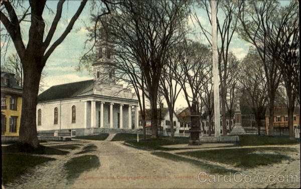 Common And Congregational Church Uxbridge Massachusetts