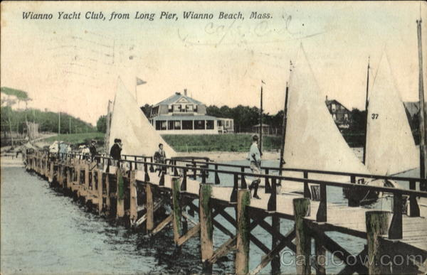 Wianno Yacht Club, From Long Pier Wianno Beach Massachusetts