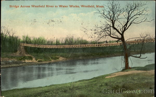 Bridge Across Westfield River To Water Works Massachusetts