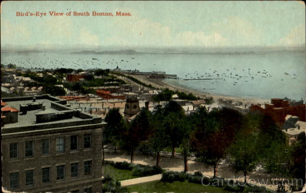 Bird's Eye View Of South Boston Massachusetts