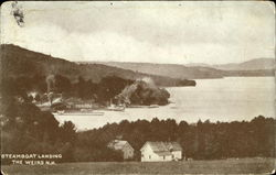 Steamboat Landing The Weirs Postcard