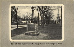 Site Of The First Three Meeting Houses Postcard