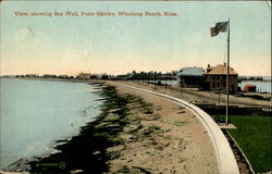 View, Showing Sea Wall, Point Shirley