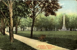 Waltham Common And Soldier's Monument