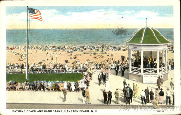 Bathing Beach And Band Stand Hampton Beach New Hampshire