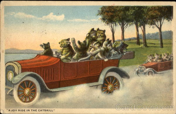 A Joy Ride In The Catskill Cars