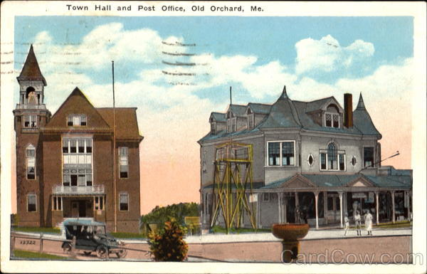 Town Hall And Post Office Old Orchard Maine