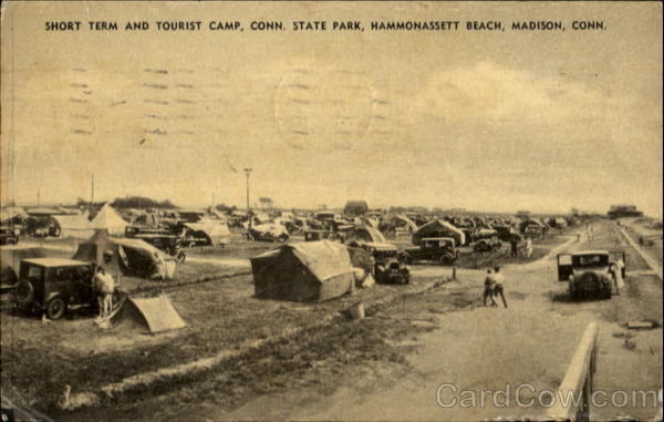 Short Term And Tourist Camp, Conn. State Park, Hammonassett Beach Madison Connecticut