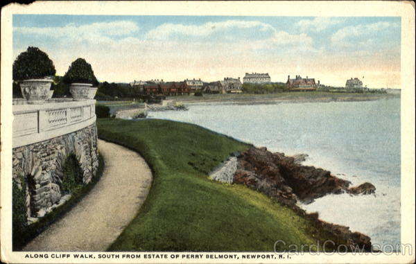 Along Cliff Walk, South From Estate of Perry Belmont Newport Rhode Island