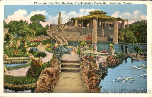 San Antonio Tx Japanese Tea Garden Brackenridge Park Texas