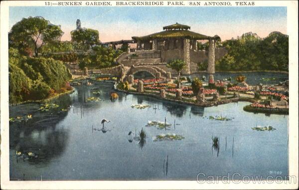 The Sunken Garden Brackenridge Park San Antonio Tx