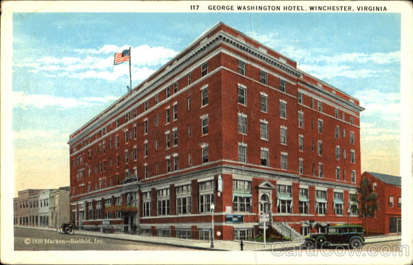 George Washington Hotel Winchester Virginia