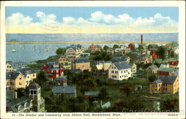The Harbor And Causeway From Abbott Hall Marblehead Massachusetts