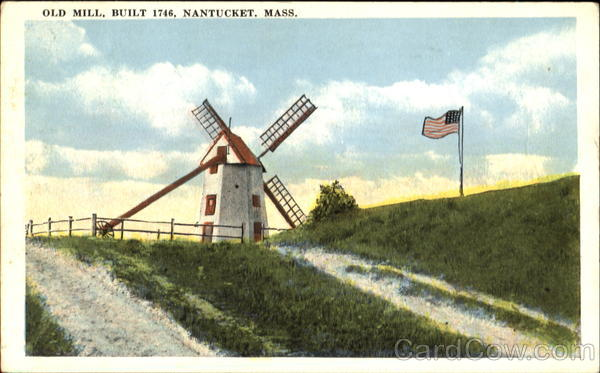 Old Mill Built 1746 Nantucket Massachusetts