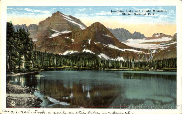 Josephine Lake And Gould Mountain, Glacier snational Park