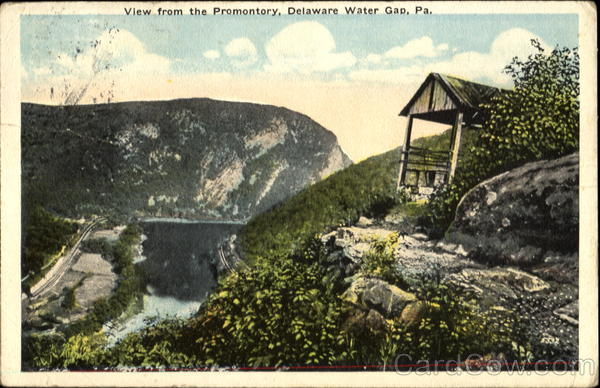 View From The Promontory Delaware Water Gap Pennsylvania