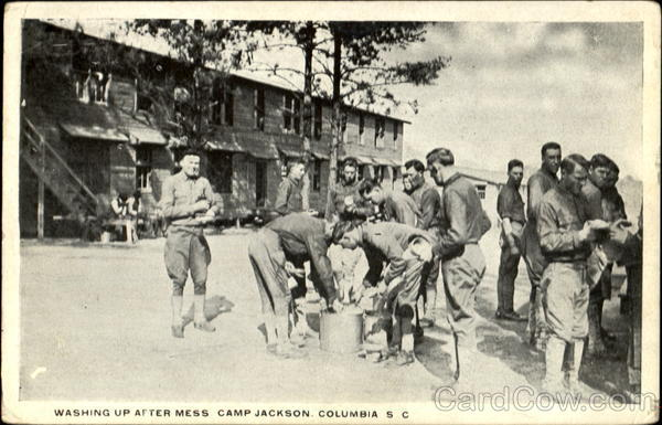 Washing Up After Mess, Camp Jackson Columbua South Carolina