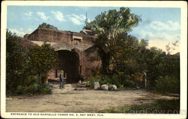 Entrance To Old Martello Tower, No. 2 Key West Florida