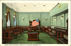 Lodge Room, National Home B.P.O. Of Elks