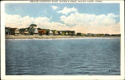 Beach Looking East, Hawk's Nest Postcard