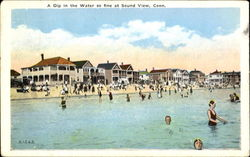 A Dip In The Water So Fine Postcard