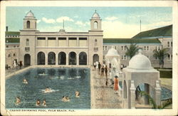 Casino Swimming Pool Postcard